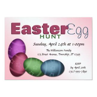Convites da páscoa do ovo do ~ 4 da caça do ovo da