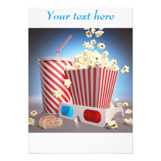 Convites da pipoca do filme