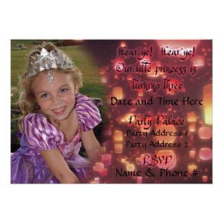 Convites da princesa Turning 3 para o aniversário