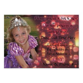 Convites da princesa Turning 4 para o aniversário