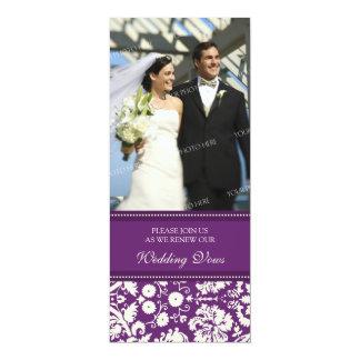 Convites da renovação do voto de casamento da foto convite 10.16 x 23.49cm