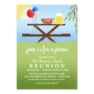 Convites da reunião de família do piquenique do convite 12.7 x 17.78cm