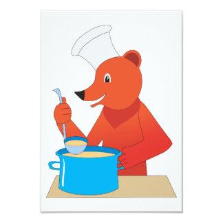 Convites da sopa do cozinhar do urso