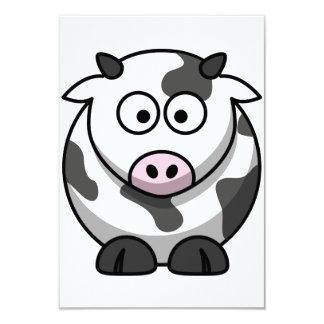 Convites da vaca dos desenhos animados