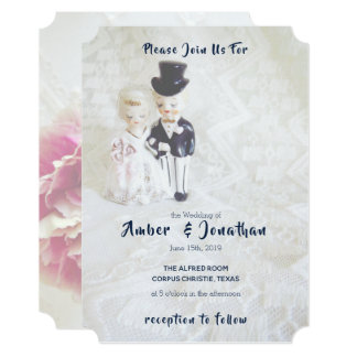 Convites Dapper do casamento do casal do laço do