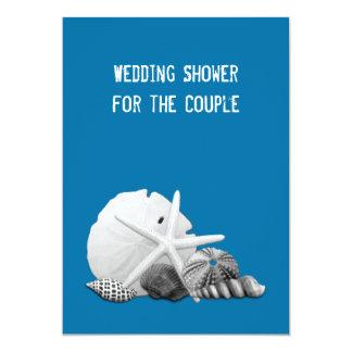 Convites das fotos do Seashell do chá de casamento