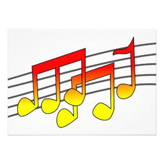 Convites das notas musicais