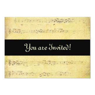 Convites das notas musicais da antiguidade do