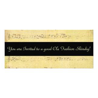 Convites das notas musicais da antiguidade do Grun