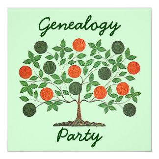 Convites das reuniões da árvore genealógica da