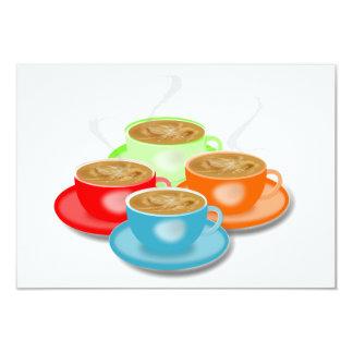 Convites de 4 chávenas de café