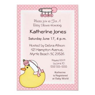Convites de borracha do chá de Duckie