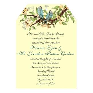 Convites de casamento azuis do pássaro do Aqua da