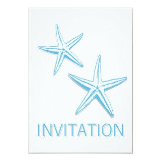 Convites de casamento azuis simples do tema da convite 12.7 x 17.78cm