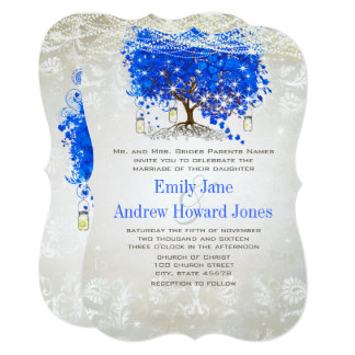 Convites de casamento da árvore da folha do