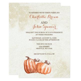 convites de casamento da colheita da queda das convite 12.7 x 17.78cm