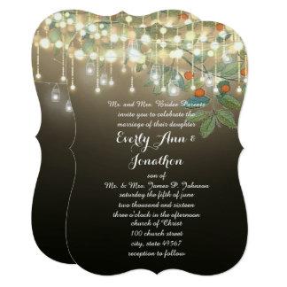 Convites de casamento da iluminação da festão do