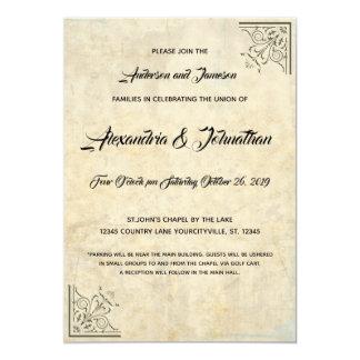 Convites de casamento do revestimento do falso do