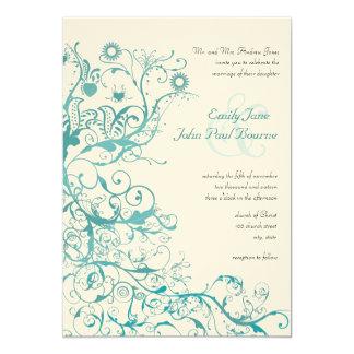 Convites de casamento dos redemoinhos dos pássaros