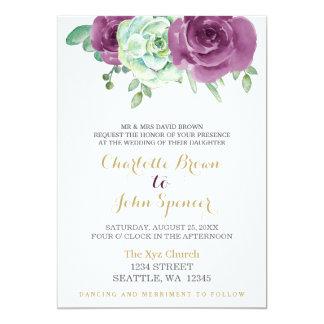 convites de casamento dos rosas da ameixa do