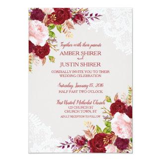 Convites de casamento florais chiques