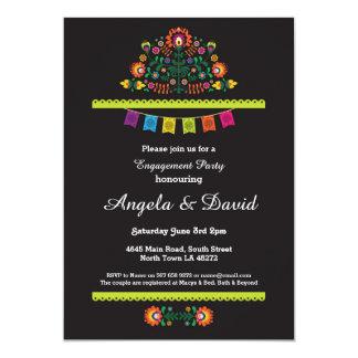 Convites de casamento mexicanos do teste padrão do