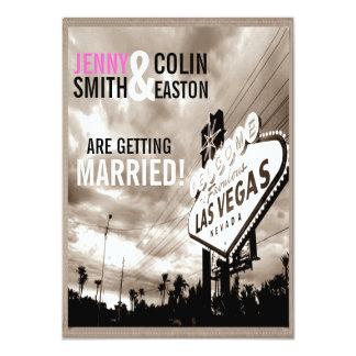 Convites de casamento modernos de Las Vegas do