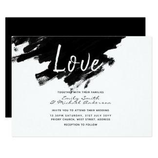 Convites de casamento modernos - pinte o branco
