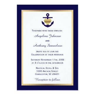 Convites de casamento náuticos dos azuis marinhos