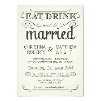 Convites de casamento rústicos do pergaminho do convite 11.30 x 15.87cm