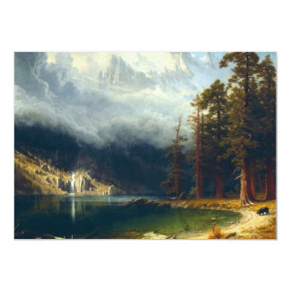 Convites de Corcoran da montagem de Bierstadt Convite 12.7 X 17.78cm