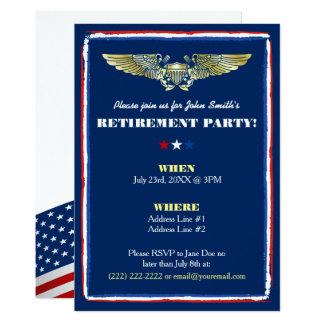 Convites de festas aeronavais da aposentadoria da