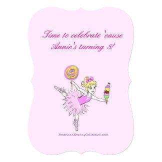 Convites de festas americanos da bailarina da avó