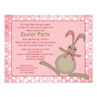 Convites de festas bonitos da páscoa do coelho de