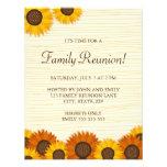 Convites de festas bonitos da reunião de família