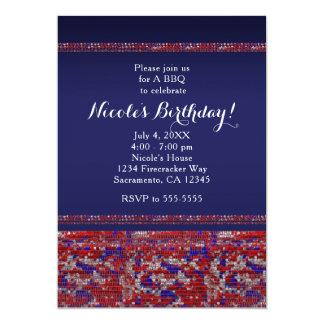 Convites de festas brancos & azuis vermelhos dos