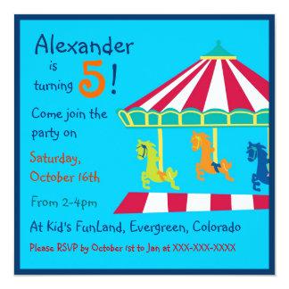 Convites de festas coloridos do aniversário de