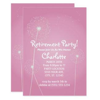 Convites de festas da aposentadoria do