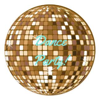 Convites de festas da bola do disco do dance party