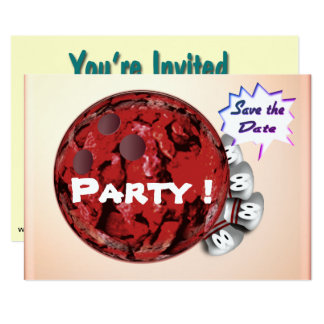 Convites de festas da boliche customizáveis