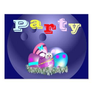 Convites de festas da boliche da páscoa
