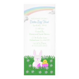 Convites de festas da caça do ovo da páscoa