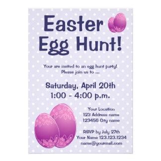 Convites de festas da caça do ovo da páscoa para m