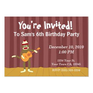 Convites de festas da guitarra acústica do macaco