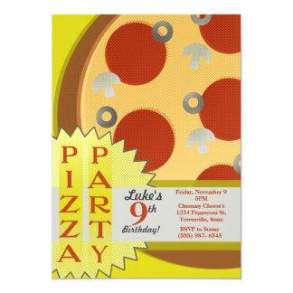 Convites de festas da pizza