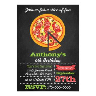 Convites de festas da pizza do quadro