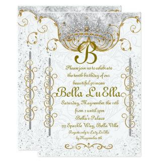 Convites de festas da princesa Bling Diamante