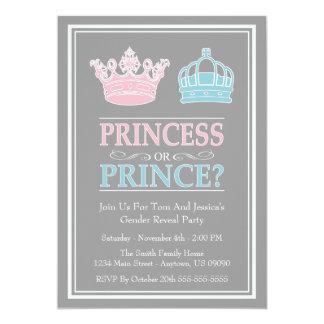 Convites de festas da princesa ou do príncipe