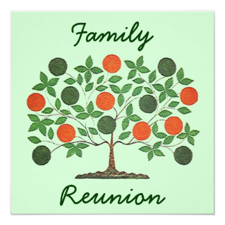 Convites de festas da reunião da árvore