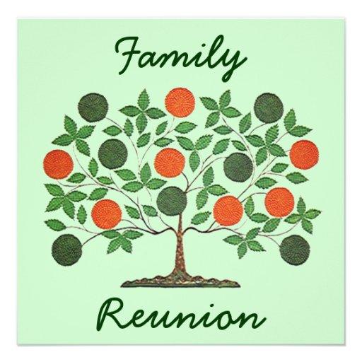 Convites de festas da reunião da árvore genealógic